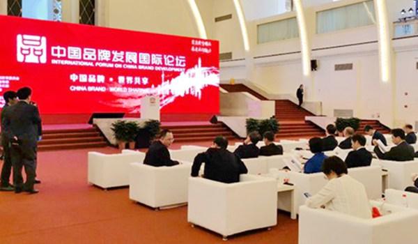 """""""中国品牌发展国际论坛""""在上海展览中心召开"""